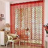 UOOOM String Panel Herz Muster Quaste String Tür Vorhang Gardinen rot