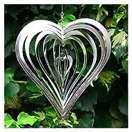 Heart Shaped Steel Windspinner Garden