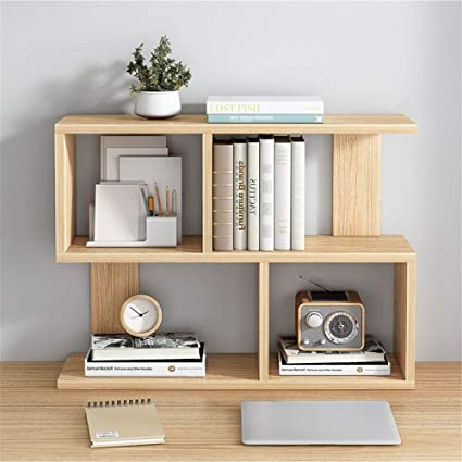 Mini estantes de madera para escritorio Escritorio De Madera ...