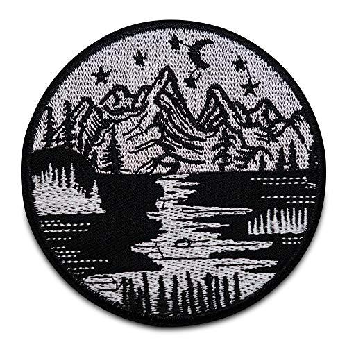 Finally Home Fluss in den Bergen Patch zum Aufbügeln   Wald Patches, Bügelflicken, Flicken, Aufnäher