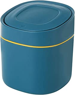 Jessicadaphne Papeleras de oficina Accesorios para el hogar Papelera de escritorio simple sin tapa Cesto de basura de cuero de estilo europeo