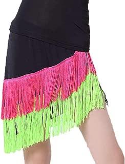 Ballroom Tango Salsa Latin Dance Competition Costumes Skirt with Fringe