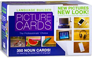 Stages Learning Materials Language Builder Picture Noun Flash Cards Photo Vocabulary Autism Learning Products for ABA Therapy and Speech Articulation