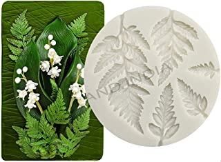 UG LAND INDIA Fern Fondant Mold Succulent Leaves Silicone Candy Molds Cake Decoration Molds Gumpaste 3D Silicone Molds for...