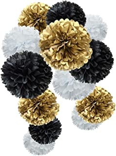 Best black and gold paper flower backdrop Reviews