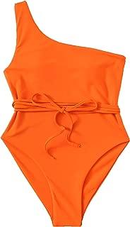 Women's Bathing Suits One Shoulder One Piece Swimsuits Monokini