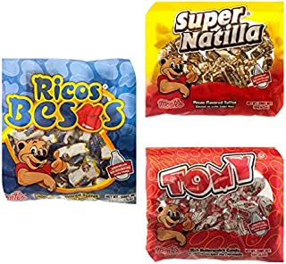 Montes Super Natilla Pecan, Tomy Rich Butter and Ricos Besos