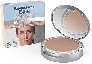 Fotoprotector ISDIN Compact SPF 50+ Arena - Protector solar facial Cobertura natural de larga duración Apto para piel at...