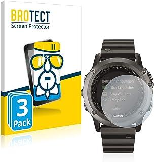 BROTECT Protector Pantalla Cristal Compatible con Garmin Fenix 3/3 HR Protector Pantalla Vidrio (3 Unidades) Dureza 9H AirGlass