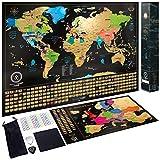Carte du Monde à gratter XXL - Carte du Monde en Poster Extra Large et Personnalisé+ Carte à...