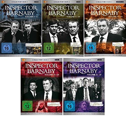 Inspector Barnaby - Collector's Box 1+2+3+4+5 (Volume 1-25) im Set - Deutsche Originalware [103 DVDs]