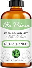 Ola Prima 4oz - Premium Quality Peppermint Essential Oil (4 Ounce Bottle) Therapeutic Grade Peppermint Oil