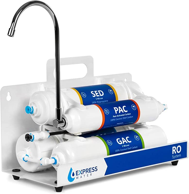Countertop Reverse Osmosis Water Filtration System 4 Stage RO Water Filter With Faucet Simple Set Up Faucet Filter Express Water
