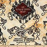Harry Potter Marauder's Map Fleece Tan Fabric by the Yard
