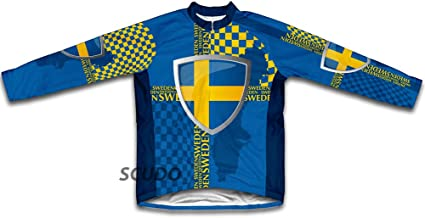 ScudoPro Sweden Winter Thermal Cycling Jersey for Men