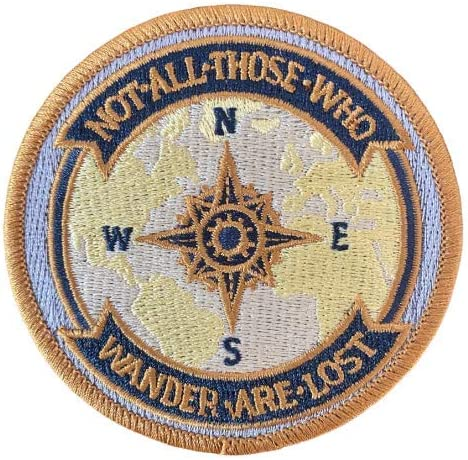 O'Houlihans - Not All Those Who Lost Special price Wander Embroidery Patch are Regular discount