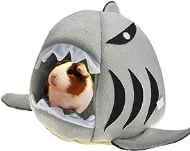 MuYaoPet Guinea Pig Hedgehog Hideout Snuggle Sack Funny Shark Winter Warm Fleece Ferret Rat Small Animal Bed House Habitat Supplies