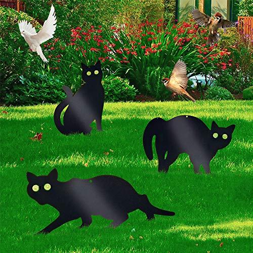 harupink Vogelschreck Katzen 3er Pack Metall Vogelscheuche Vogelabwehr Vogelschreck Garten (Vogel, Tiere,Fox, Pest) Scarers