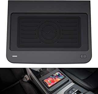CarQiWireless Wireless Phone Charger Fast Charging for Audi Q5/ SQ5 2016-2020 Center Console 3 Coils QI Phone Wireless Charging Pad Mat fit for Audi Q5 SQ5 2020 2019 2018 2017 2016 Accessories