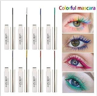 BONNIESTORE 9 Colors Waterproof Color Mascara, Colored Lashes Mascara Variety Pack Mascara Eyeliner Charming Long Lasting ...