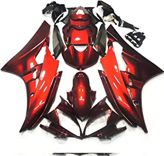 Sponsored Ad - ZXMOTO Y0609RED ABS Plastic Motorcycle Bodywork Fairing Kit for Yamaha YZF R6 2008-2016 2009 2010 2011 2012...