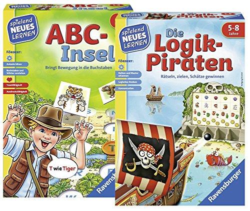 Ravensburger 24952 ABC-Insel Lernspiel 24969 Die Logik-Piraten Lernspiel
