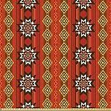 ABAKUHAUS Orange Stoff als Meterware, Traditionelles Motiv,