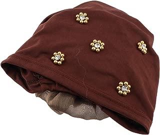 IPOTCH Lady Muslim Head Wrap Ruffle Flower Cancer Chemo Hat Beanie Scarf Turban Cap