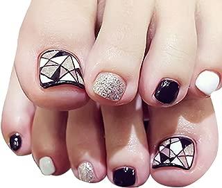 24 uñas postizas para los dedos del pie de LA HAUTE,