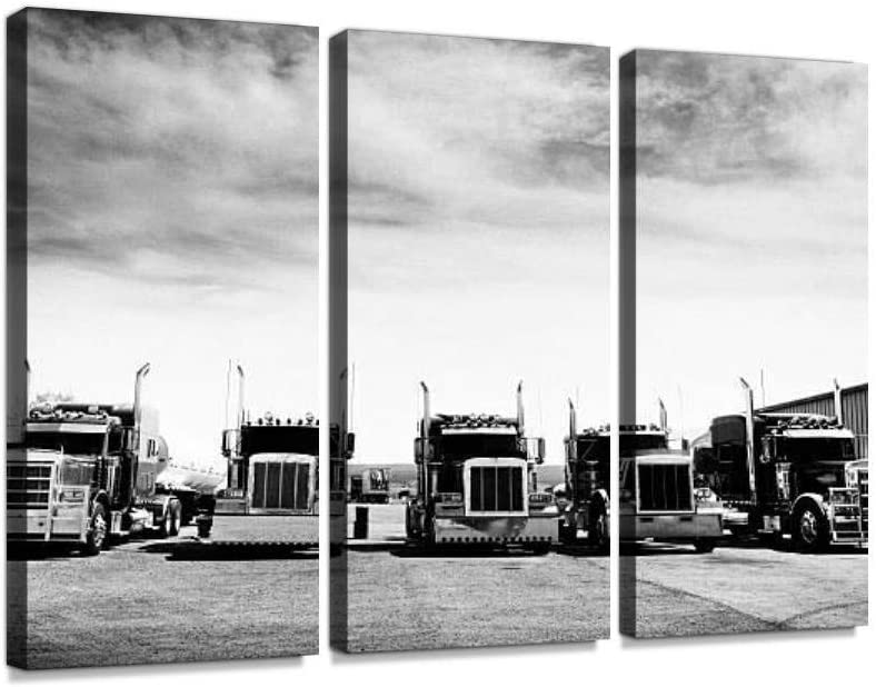Trucks Convoy California Black And Challenge the lowest price of Japan ☆ White Wall On Print A Phoenix Mall Canvas