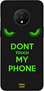 One Plus 7T Protective Case Cover Don't Touch My Phone Green Eyes