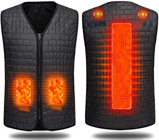 Lightweight Waterproof and Leakproof USB Smart Electric Heating Vest Middle and Old Heating Vest,Black,XXXXXL