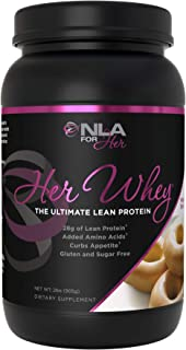 NLA for Her- Her Whey- Lean Whey Isolate Protein for Women-Added Amino Acids for Recovery, Builds Muscle, Curbs Appetite- 5 Flavor Choices - 2 lb tub … (Maple Donut)