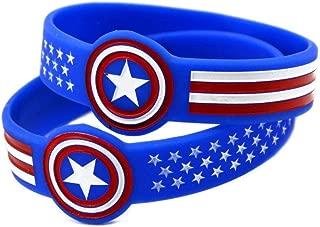 DuDuDu Silicone Hand Ring Film Captain America Hero Hand Ring Silicone Bracelet Birthday Gift