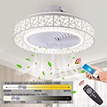 Ceiling Fan Lamp, 72W LED Ceiling Fan Light Invisible Light, Wind Speed ​​Adjustable with Remote Control & App Dimmable Li...