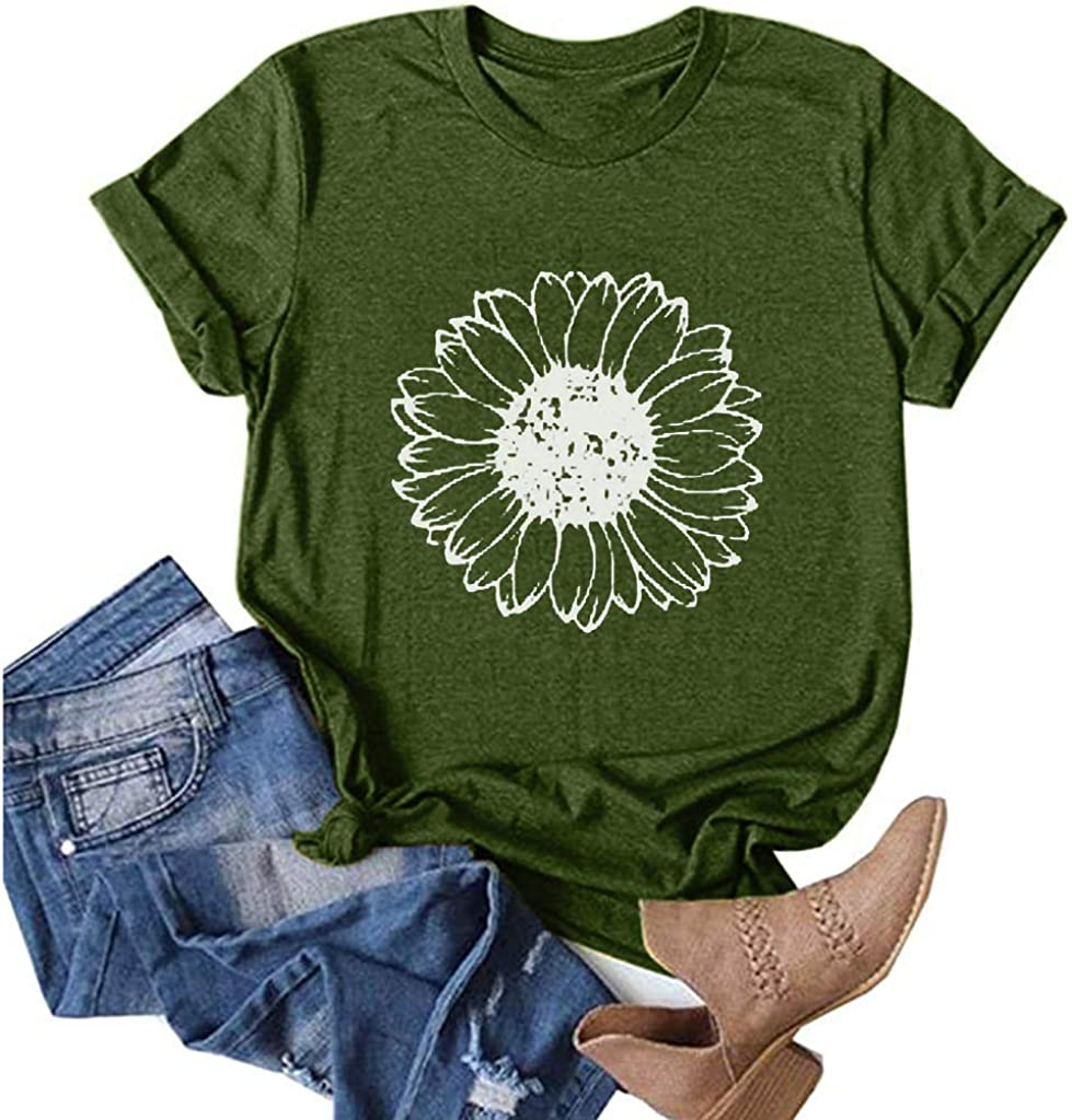 AODONG Womens Short Sleeve Tops,Love Heart Shirts Womens Valentines Day Casual Short Sleeve Tee Tops