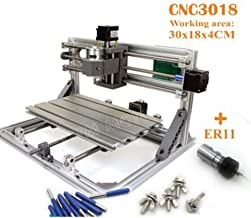 DIY Mini 3 Axis 3018 CNC Router Desktop Engraver GRBL Control plastic PCB PVC Milling Wood Cutting Carving Engraving Machine with ER11 Collet
