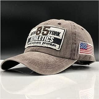 2019 Womens Hats Caps Brand Men's Baseball Cap Father Casquette Female Button Cap Bone Cap Men's Fashion Retro-Gollas Alphabet Cotton Cap (Color : Khaki, Size : 56-60CM)