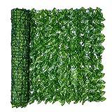 Lierre Plante Artificielle Haie artificielle Feuille de lierre Rouleau de clôture de jardin Mur vert Balcon de protection de la vie privée rouleau de clôture en treillis en expansion avec des feuille