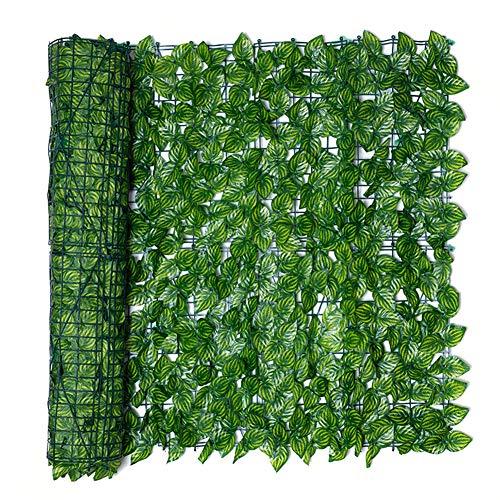 Künstliche Efeu Garten Sichtschutz, Künstliche Hecke Efeublatt Gartenzaunrolle Grüner Wandbalkon Sichtschutz, Erweiterung der Gitterzaunrolle mit Efeublättern UV-verblassen Geschützte