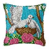 Jacquelyn DIY Craft Needle Ricamo Fai da Te Divano Cuscino Cuscino Cuscino Crochet Set da Principiante Decorazione della Casa for Adulti 17 X 17 Pollici Kit per fabbricare tappeti a Punto Croce