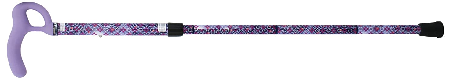 好奇心巻き取り大人SINANO シナノ ウォーキングステッキ 歩行杖 折りたたみ杖 カイノス Oネックカーボン パープル(Mサイズ)