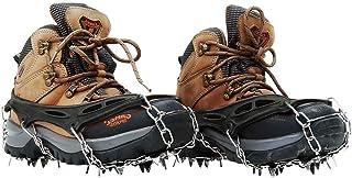 Grips de Neige pour Bottes Chaussures Femmes Hommes Enfants Crampons /à Crampons de Glace Crampons Anti-d/érapants pour Route de Montagne pour Alpinisme Escalade sur Glace