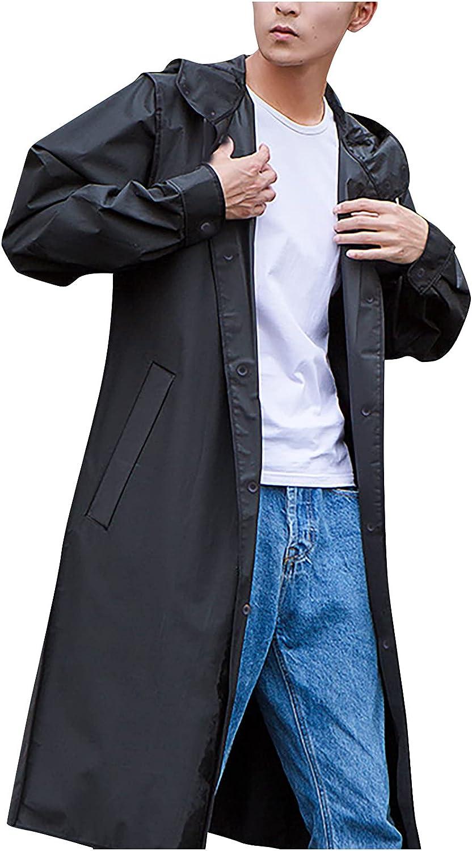 Aritone Women's and Man Casual Long Sleeve Bomber Jacket Waterproof Coat Walking Raincoat