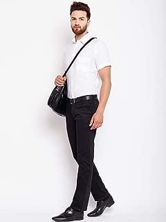Linen_Men White Slim Fit Solid Linen Casual Shirt (36)
