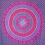 MOMOMUS Tapiz Mandala Étnico - 100% Algodón, Grande, Multiuso - Pareo/Toalla...