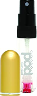 Perfume Pod Refillable Sprayer Unisex, Gold, 0.2 oz.