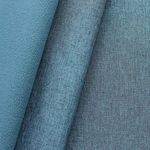 STOFFKONTOR Softshell Fleece Stoff Meterware, Wasserabweisender Softshell-Stoff mit Fleece zum Nähen - Blau Melange