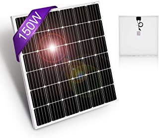 DOKIO 150 Watt 12 Volt / 18volt Monocrystalline Solar Panel High Efficiency Module for RV, Boat, Home Off Grid System