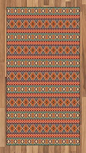 ABAKUHAUS aztekisch Teppich, Peru-Volkspastellmotive, Deko-Teppich Digitaldruck, Färben mit langfristigen Halt, 80 x 150 cm, Mehrfarbig